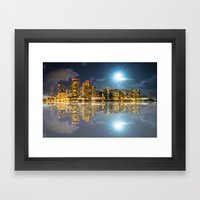 Honolulu City Lights Framed Art Print