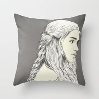 D T Throw Pillow