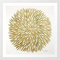 Golden Burst Art Print
