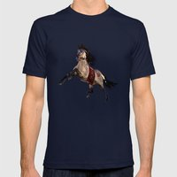 HORSE - Dreamweaver Mens Fitted Tee Navy SMALL