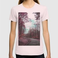 Passing Through II Womens Fitted Tee Light Pink SMALL