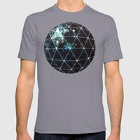 Galaxy Geodesic  Mens Fitted Tee Slate SMALL