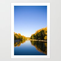 Autumn Reflections - Cal… Art Print