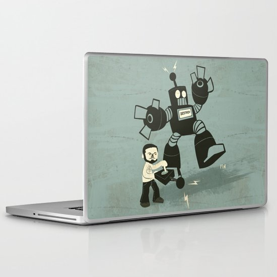 One Button Destruction Laptop & iPad Skin