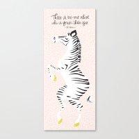 Pink Zebra (Dr. Seuss Qu… Canvas Print