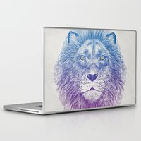 lion Laptop & iPad Skins featuring Face of a Lion by Rachel Caldwell