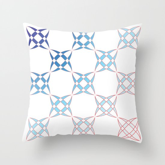 Checker C4 Throw Pillow