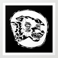 angry dog Art Print