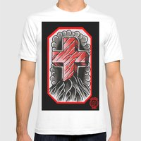 Cross Of Ages Mens Fitted Tee White SMALL