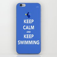 Keep Calm And Keep Swimm… iPhone & iPod Skin