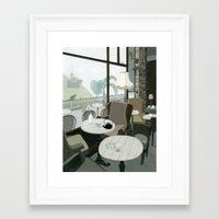 Cafe With A View Of The … Framed Art Print