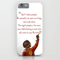 iPhone & iPod Case featuring Positive Attitude by Lee Grace Illustration