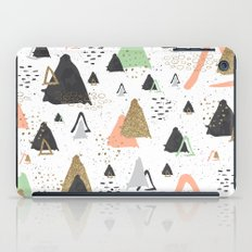 Triangles & textures watercolor iPad Case