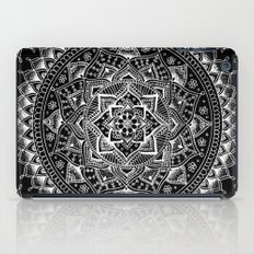 White Flower Mandala On … iPad Case