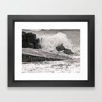 Angry Sea I Framed Art Print