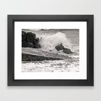 Angry Sea I Framed Art Print