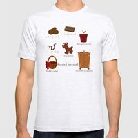 Colors: brown (Los colores: marrón) Mens Fitted Tee Ash Grey SMALL