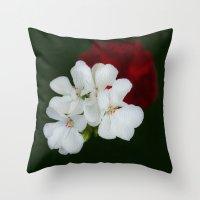 Geranium as art Throw Pillow