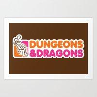 D&D All Nighter Art Print