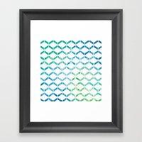 Marine Geometric Framed Art Print