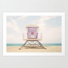 Lifeguard Tower 2  Art Print