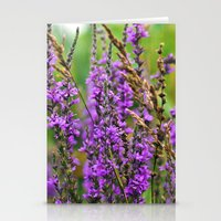 Pink Summer Meadow Stationery Cards