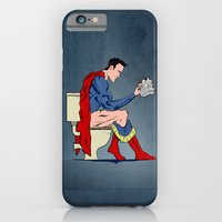 Superhero On Toilet iPhone 6 Slim Case