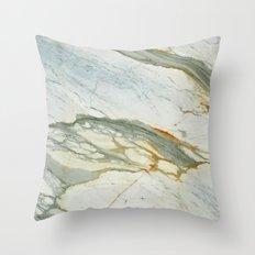 Classic Italian Marble Throw Pillow