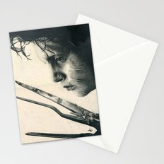 Edward Scissorhands ~ Johnny Depp Traditional Portrait Print Stationery Cards