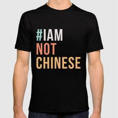 #IAMNOTCHINESE Black SMALL Mens Fitted Tee