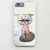 iPhone & iPod Case featuring Kitty Got A Haircut by Julia Emiliani