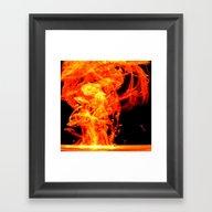 Fire Inks Framed Art Print