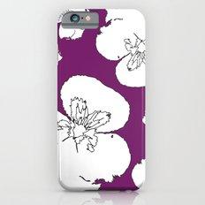 Purple Pansies iPhone 6s Slim Case