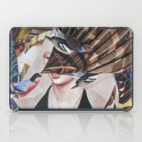 Madchen_Portrait with (Dark Jungle) iPad Case