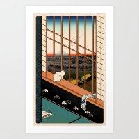 Asakusa Ricefields Pixel… Art Print