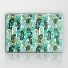 tropical plant house plant palm leaves plant watercolor painting abstract nature pattern leaf summer Laptop & iPad Skin