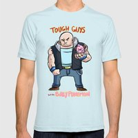 Tough Guys With Baby Pok… Mens Fitted Tee Light Blue SMALL
