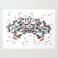 Christmas Plaq Art Print