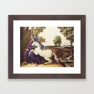 Vader And Unicorn Framed Art Print