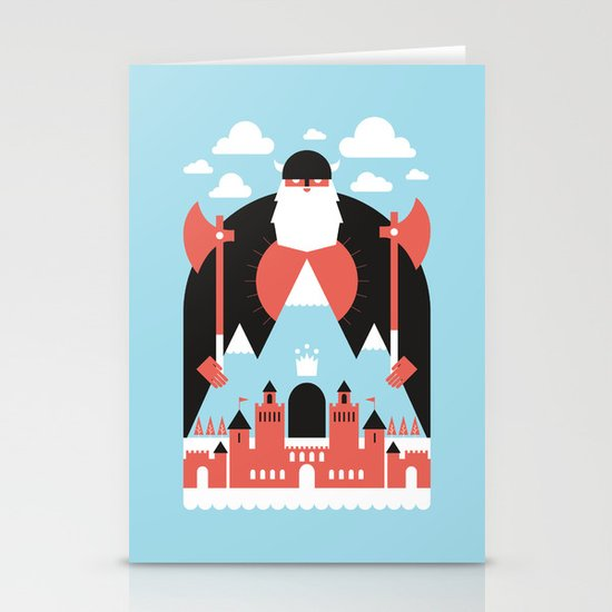 King of the Mountain Stationery Card