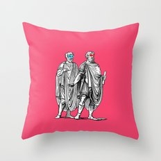 Classic men have a party Throw Pillow