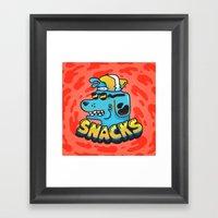 Snacks Dawg Framed Art Print