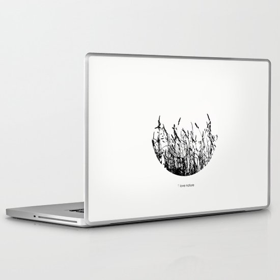 i love nature Laptop & iPad Skin