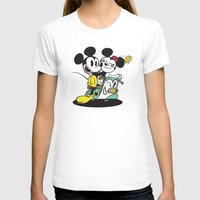 Croissant De Triomphe Womens Fitted Tee White SMALL