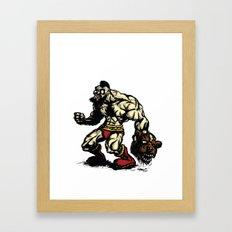 Bear Wrestler - Street Fighter Framed Art Print