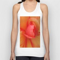 Strawberries and Cream Abstract. Unisex Tank Top