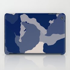Blue Camo abstract iPad Case