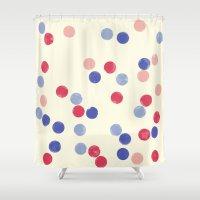WATERCOLOR CONFETTI Shower Curtain