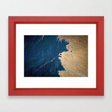 Yellow blue land Framed Art Print