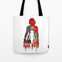 Black Widow Print Tote Bag